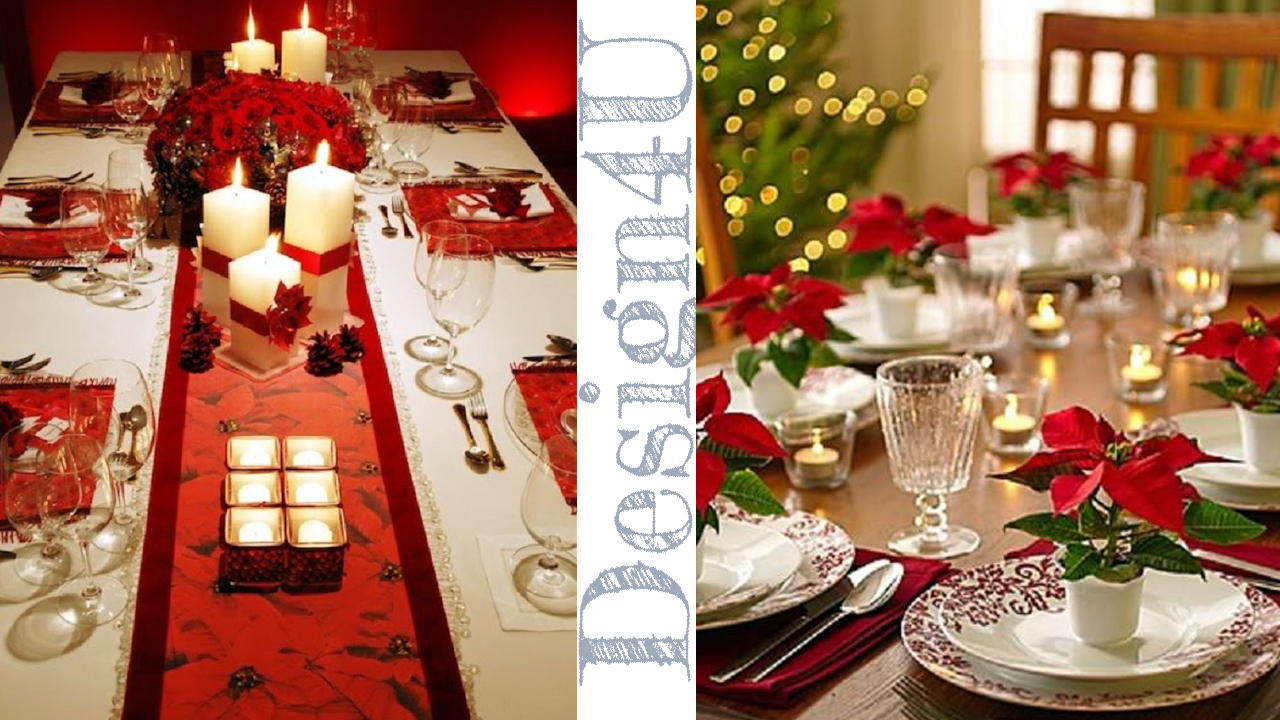 Come addobbare la tavola a natale table decoration design4u - Addobbi tavola di natale ...