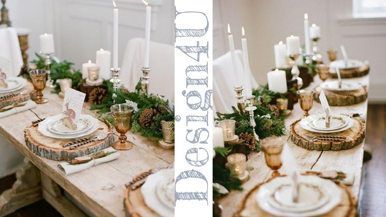 Come addobbare la tavola a natale table decoration - Tavola apparecchiata con runner ...