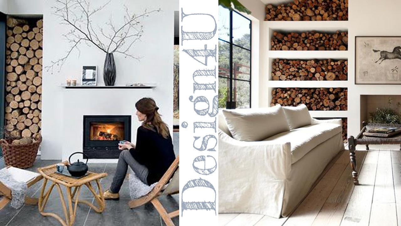 Camino moderno a parete idea creativa della casa e dell - Parete attrezzata moderna con camino ...