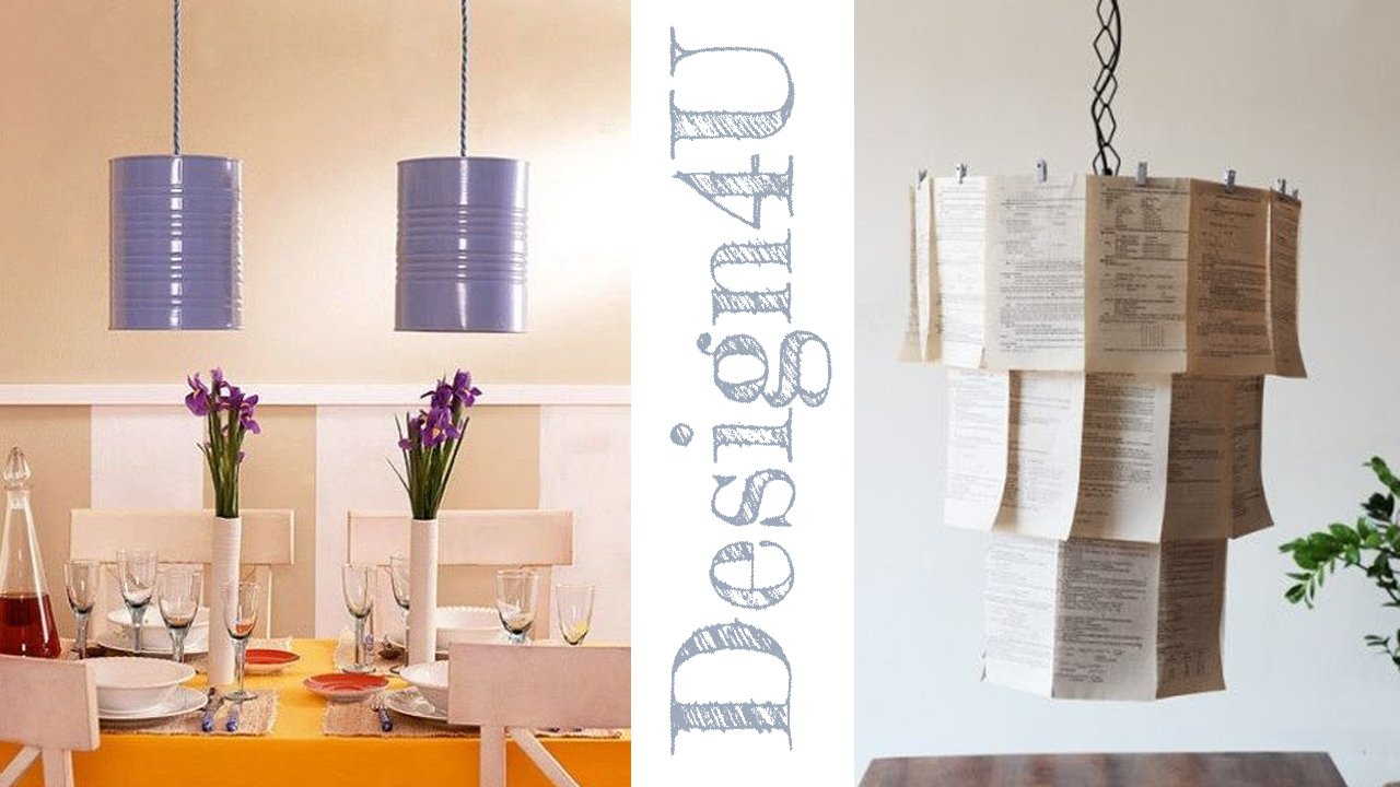 Lampadario fai da te diy lamp design4u - Lampadari colorati design ...